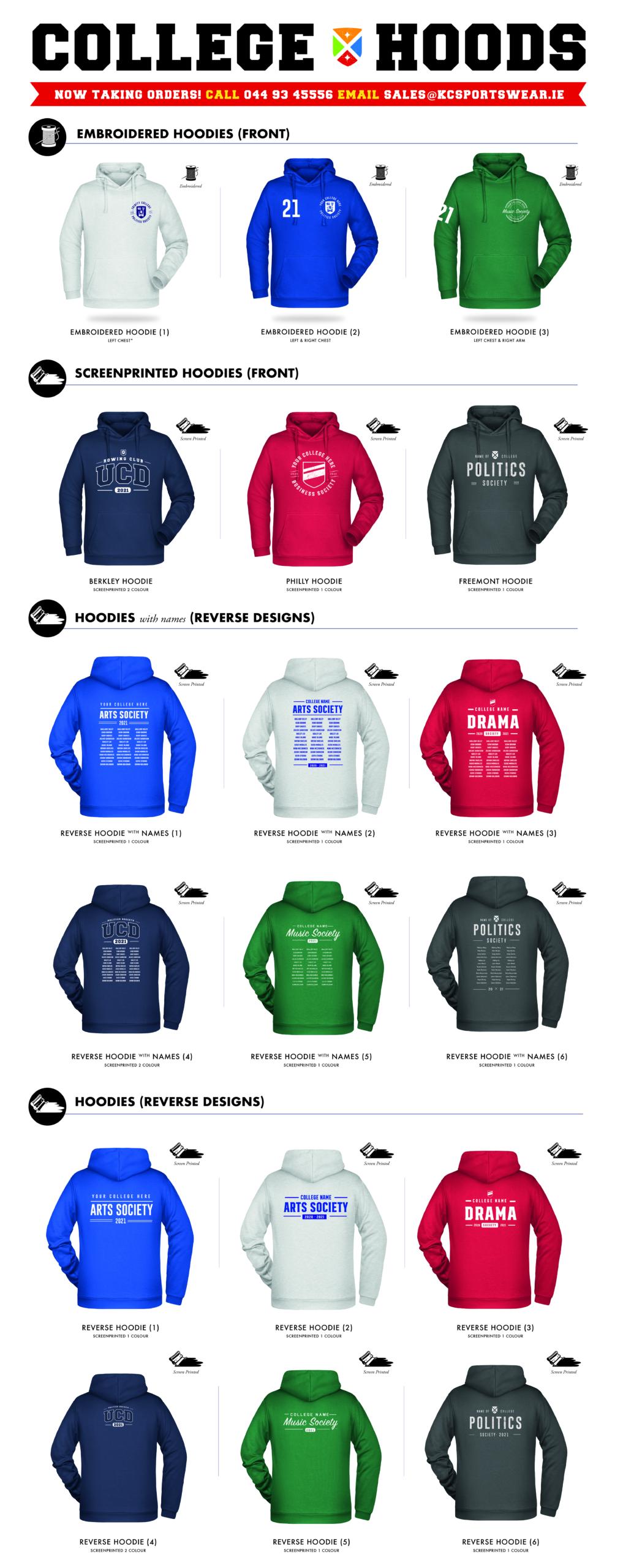 college hoodies